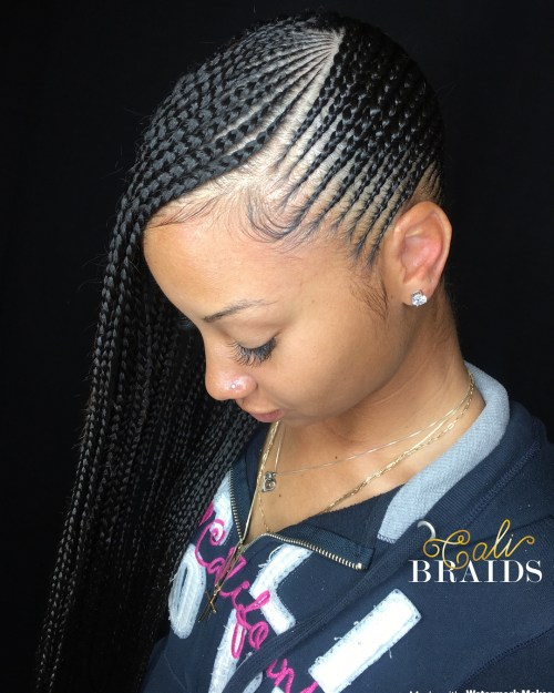Back and forth skinny braids