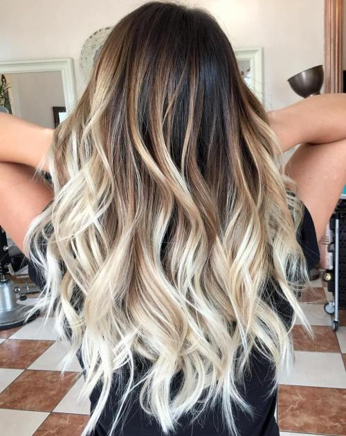 Balayage beach blonde