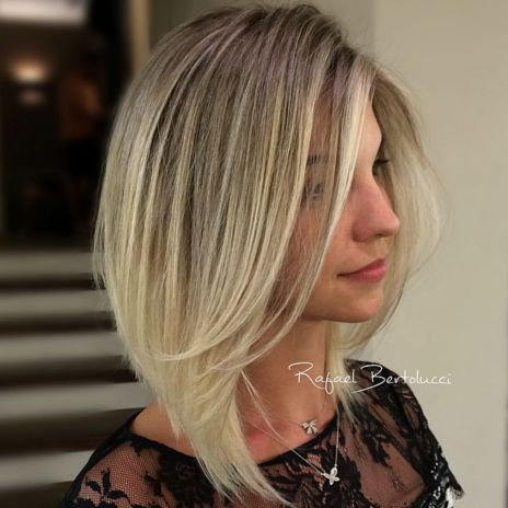 Blonde ombre angled bob