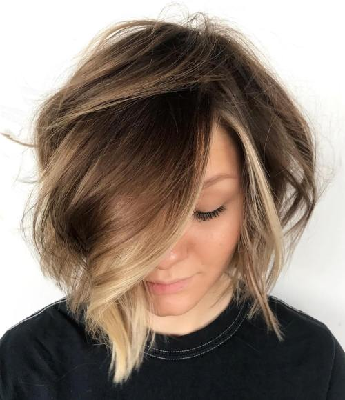 Bronde bob with face framing highlights