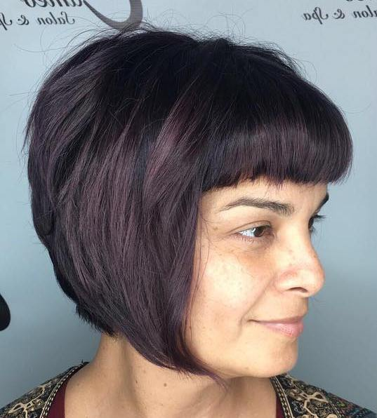 CHINLENGTH STACKED BOB WITH BANGS