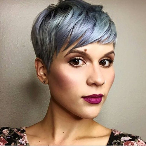 CLASSICAL SHORT PIXIE IN PASTEL BLUE