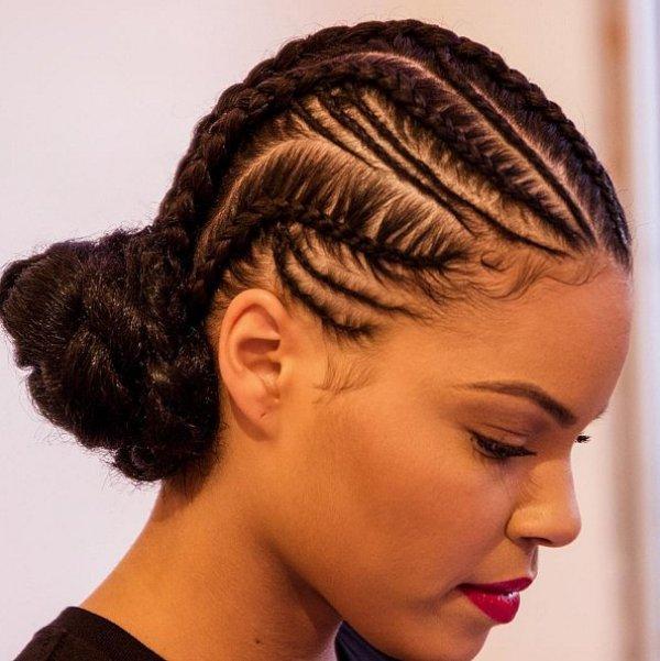 CORNROW BRAIDED BLACK HAIRSTYLES