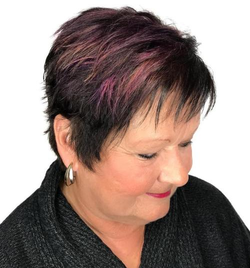Choppy pixie for women over 50
