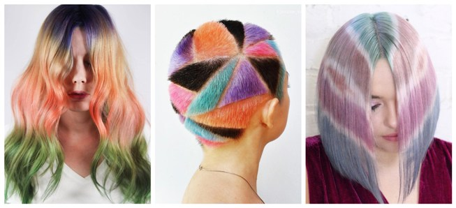 Color experiments hair trend