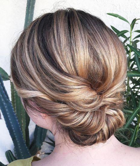 Elegant chignon for medium hair