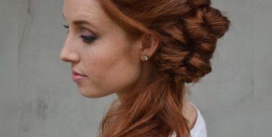 Formal side ponytail