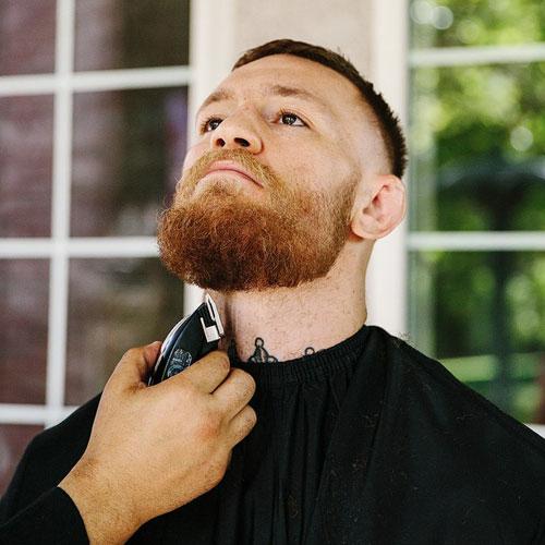 Full Beard High Skin Fade Conor Haircut