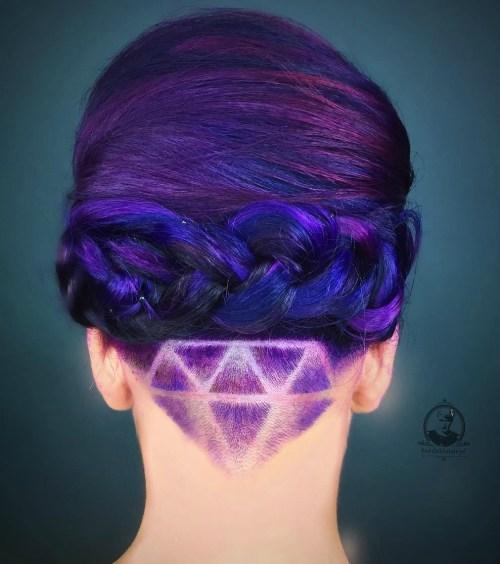 GALAXY HAIR WITH NAPE UNDERCUT