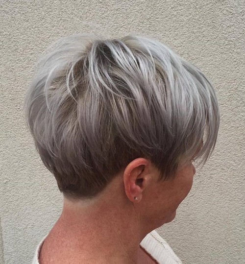 GRAY BLONDE PIXIE