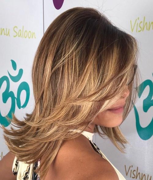 Glamorous blonde layers