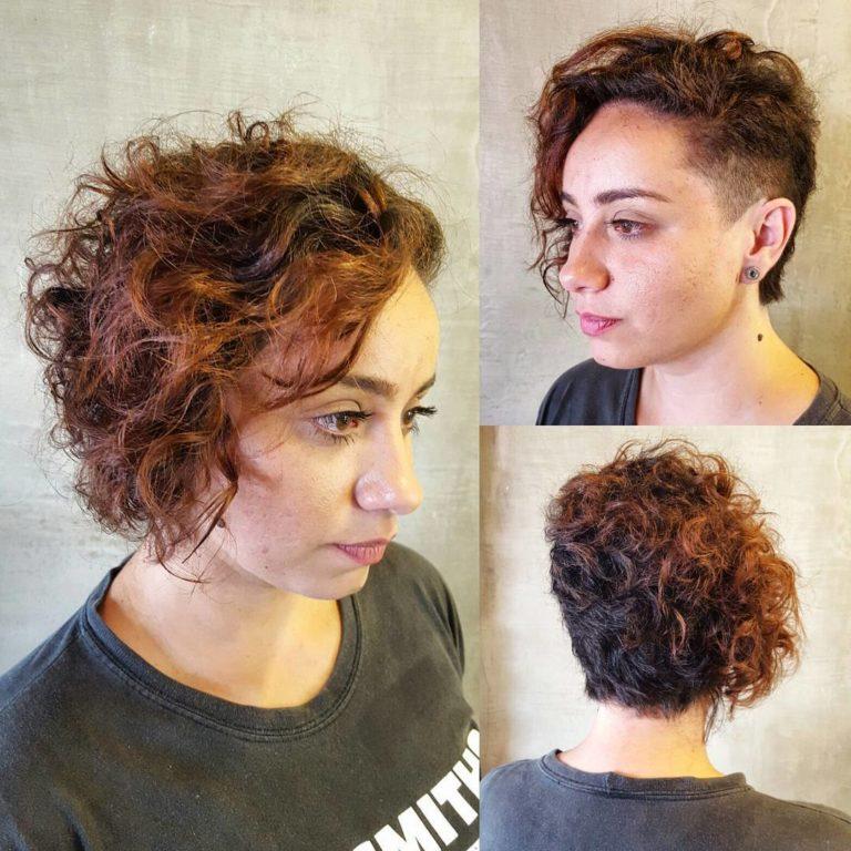 HALF SHAVED SHORT HAIR
