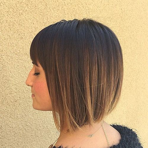 INVERTED BOB WITH OMBRE