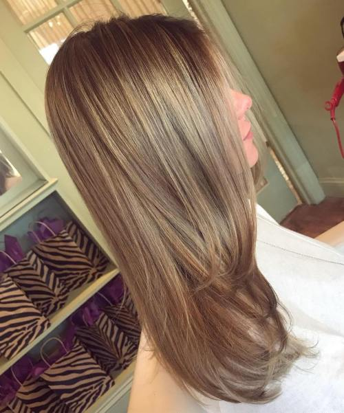 Light ash brown hair with golden sheen