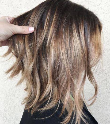 Long layered bob for fine hair