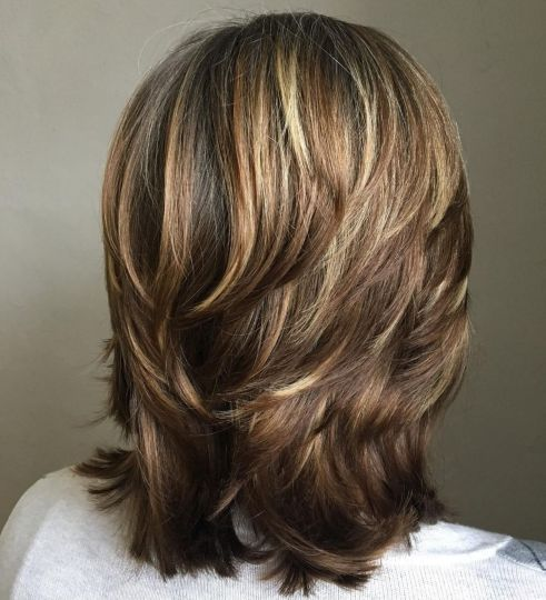Medium Cut with Chunky Swoopy Layers