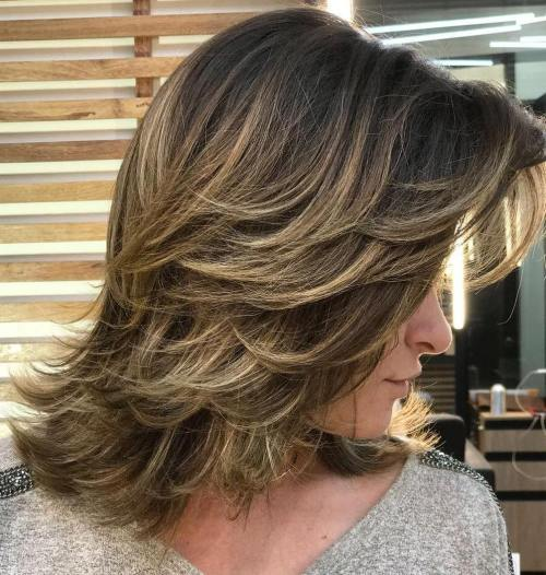 Medium cut with light layers