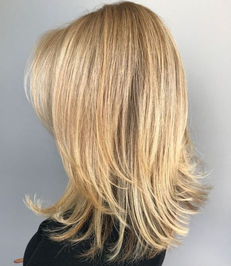 Medium to long hair with long layers