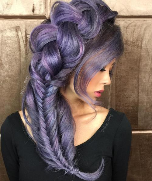 PASTEL PURPLE HAIRSTYLE