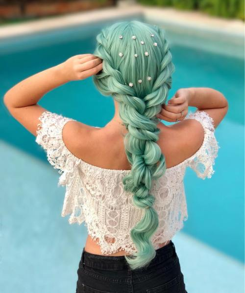 Rope braided party hairstyle