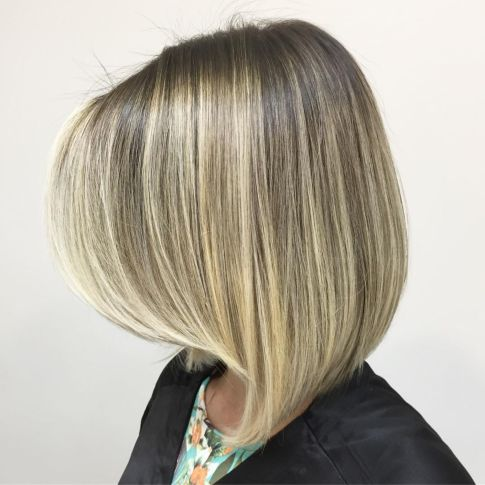 Straight bob with long swoopy bangs