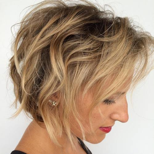 TOUSLED BOB FOR THIN HAIR