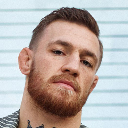 The Combover Taper Fade with Beard Haircut