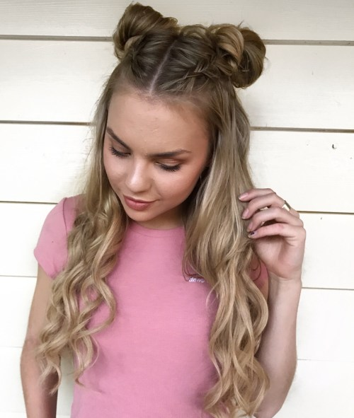 Two duch braided buns
