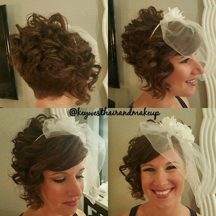 VEIL HEADBAND FOR SHORT ASYMMETRICAL HAIR