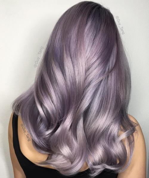 VIOLET SILVER HAIR COLOR