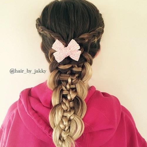 chunky multi braid for girls