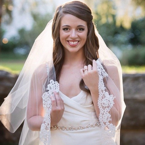 long sideparted wedding hairstyle