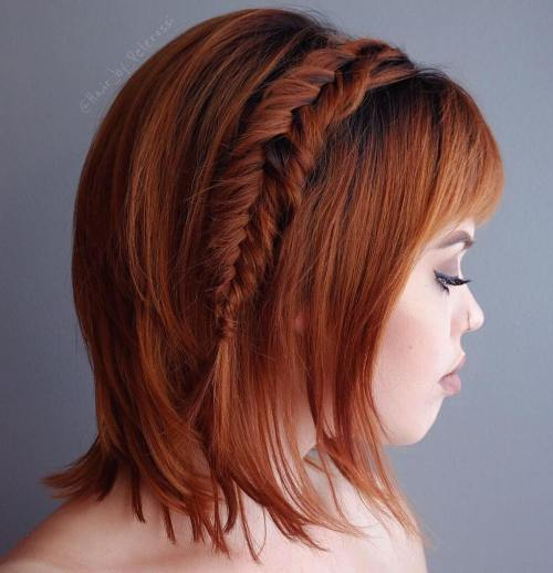 Bob with a fishtail