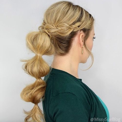 Bubble pony for long hair
