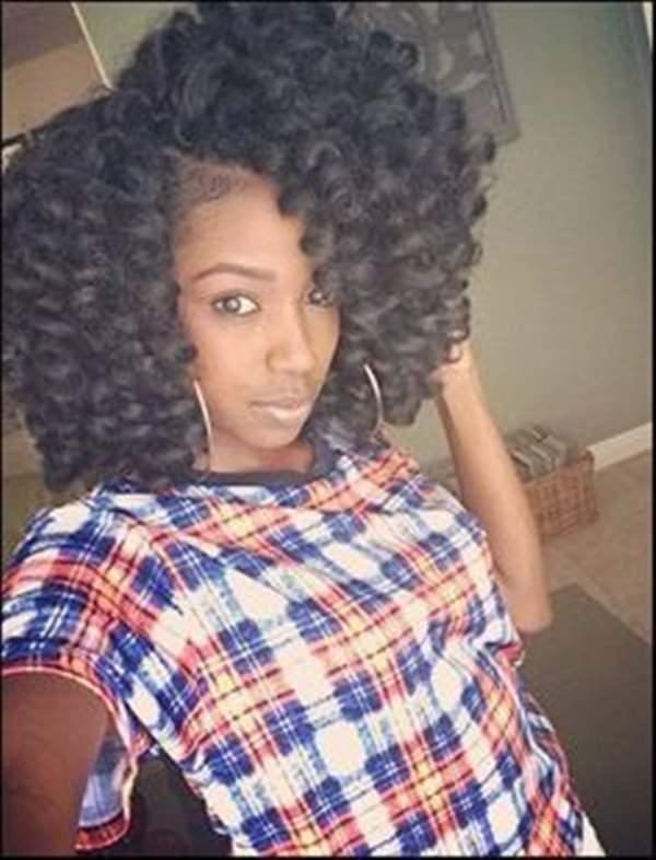 Chin Length Spiral Curls