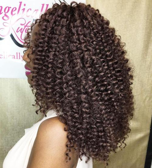 Chocolate brown curly sewin