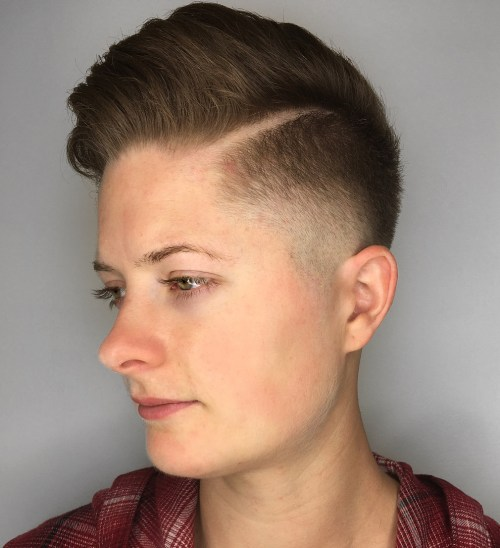 Combover pomp with hard part