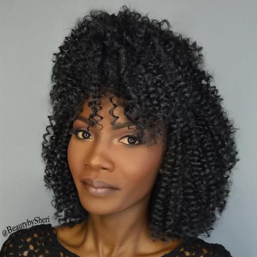 Curly bob crochet hairstyle