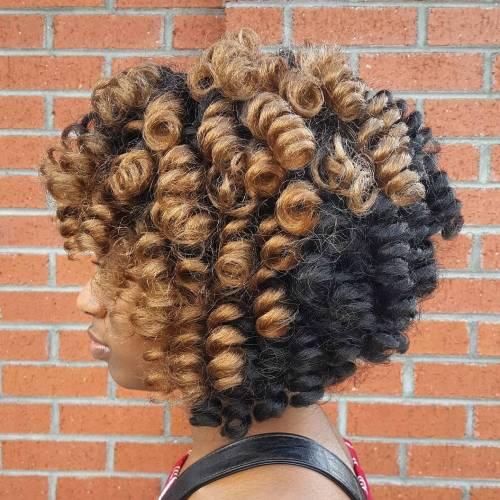 Curly crocheted bob