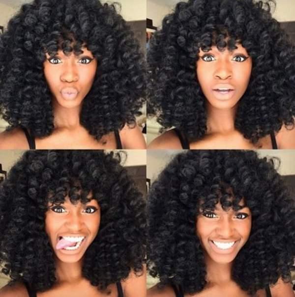 Face Framing Spiral Curls