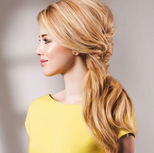 Fancy side ponytail