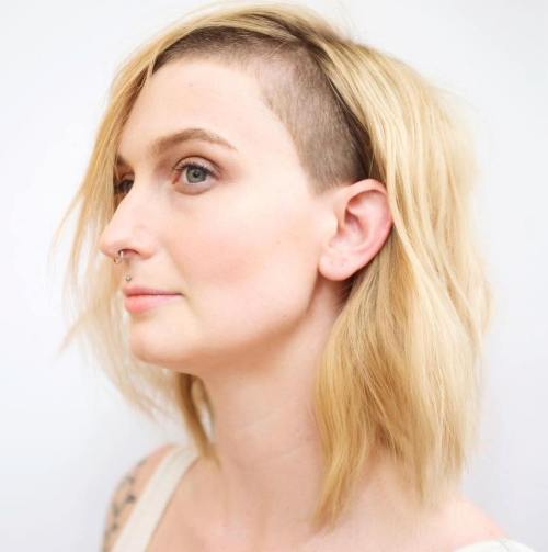 Hairline undercut for medium hair