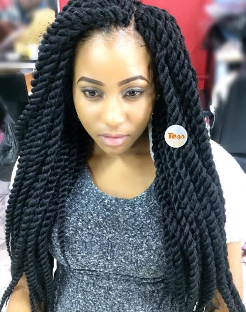 Long layered crochet twists braids