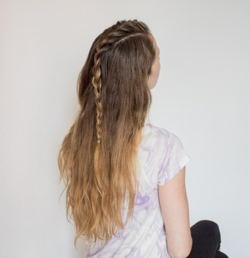 Mohawk french braid