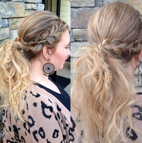 Pretty messy pony with braided section