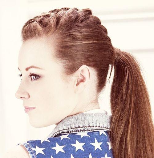 Punky ponytail