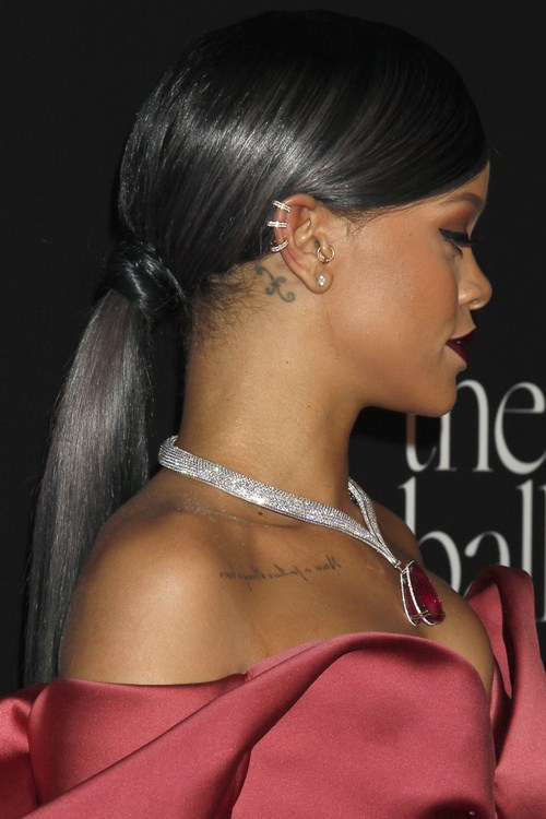 Sleek and shiny ponytail