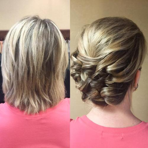 Updo for a layered bob