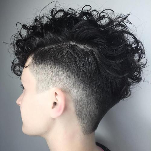 Womens undercut for curly hair