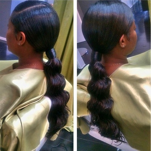 ponytail black hairstyles